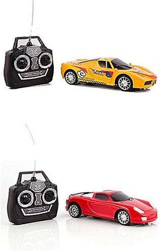 Asaan Buy Pack of 2 Remote Control Cars for Kids Yellow & Red