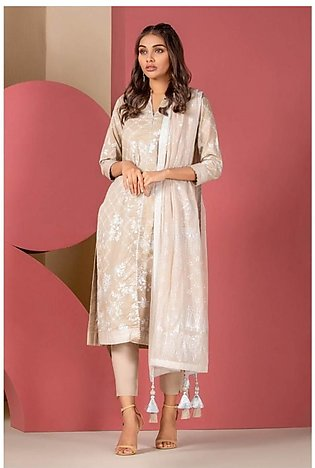 Al Karam Spring Summer Collection 2020 3 Piece (SS-31.1-20-Beige)