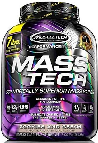 MuscleTech Performance MassTech Mass Gainer Cookies and Cream 3.18 KG
