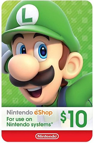 Nintendo eShop Gift Card $10 - Switch / Wii U / 3DS - Email Delivery
