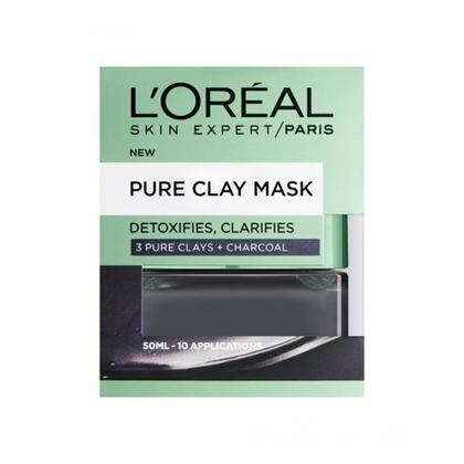 L'Oreal Paris Pure Clay Charcoal Face Mask Black 50ml