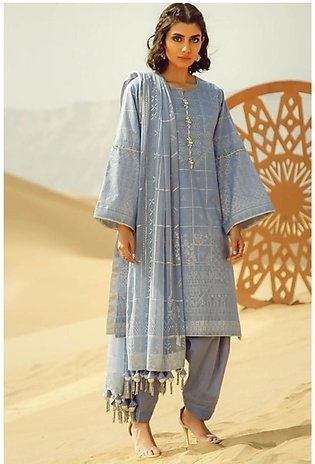 Al Karam Spring Summer Collection 2020 3 Piece (SS-20.1-20-Blue)