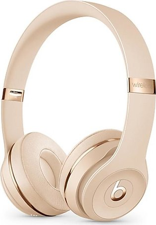 Beats Solo 3 Wireless Bluetooth On-Ear Headphones Satin Gold