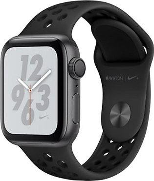 Apple iWatch Series 4 44mm Space Gray Aluminum Case With Anthracite/Black Nik...