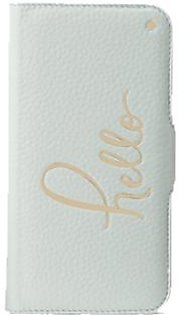 Kate Spade Hello Folio Misty Mint Case For iPhone X/XS