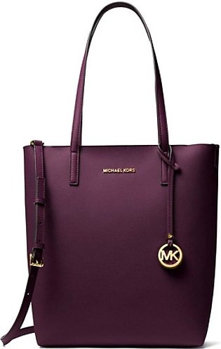 Michael Kors Hayley Large North South Top-Zip Tote Shoulder Bag Purple
