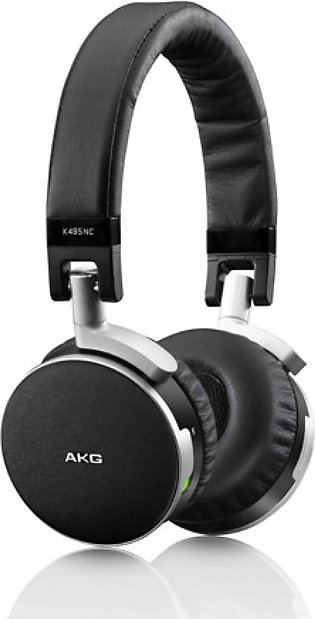 AKG K495 Premium Active Noise Cancelling On Ear Headphones Black