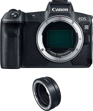 Canon EOS R Mirrorless Digital Camera with Mount Adapter - MBM Warranty