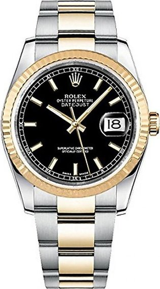 Rolex Datejust 36 Men's Watch Yellow Gold (116233-BLKSO)