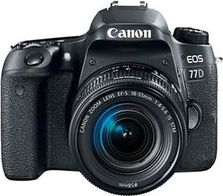 Canon EOS 77D DSLR Camera With 18-55mm STM Lens - International Warranty