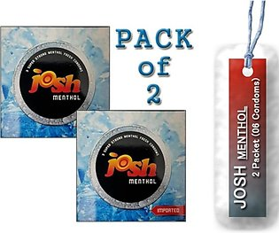Pakistan Store Josh 3 In 1 Menthol Condoms - Pack Of 2