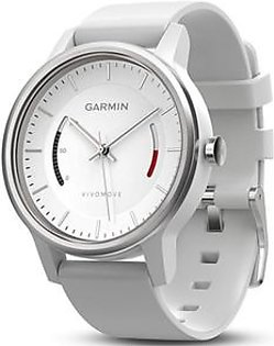 Garmin Vivomove Classic Activity Tracking Watch White with Leather Band