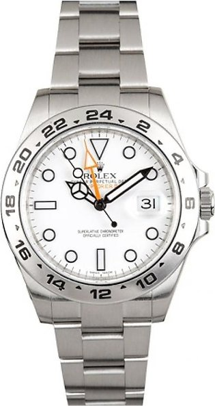 Rolex Explorer II Men's Watch Silver (216570WSO)