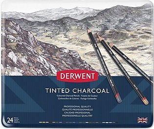 Derwent Tinted Charcoal Pencil Set Of 24