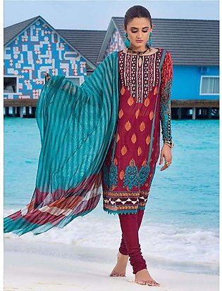 Zainab Chottani Luxury Lawn Collection 2020 3 Piece Rustic Bloom (06A)