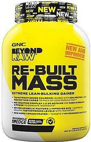 GNC Beyond Raw Re Built Mass Gainer Vanilla Cake Batter 4.8lbs