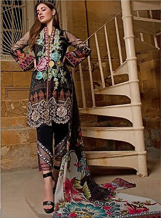 Sifona Marjaan Luxury Embroidered Lawn 2020 3 Piece (MMS-06)
