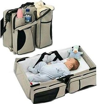 Fashion Mart Baby Portable Cot And Diaper Bag Pack of 2