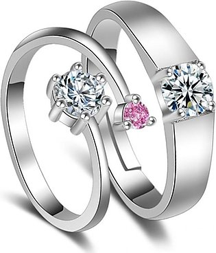 JHHandicrafts Platinum Plated Ring For Women Pack Of 2