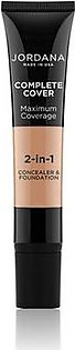 Jordana Complete Cover 2 In 1 Concealer & Foundation - Natural Olive (07)