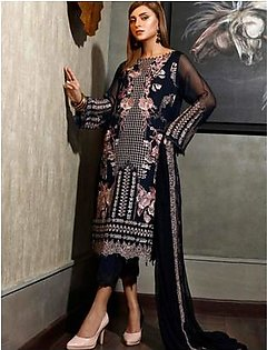 Charizma Chimmer Vol-05 Embroidered Bamber Chiffon Collection 3 Piece (CM-036)