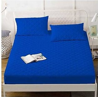 Maguari King Quilted Mattress Protector Blue (0262)