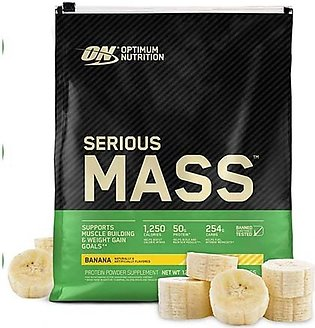 ON Pro Serious Mass High Protein Weight Gainer Powder Banana 5.44 kg