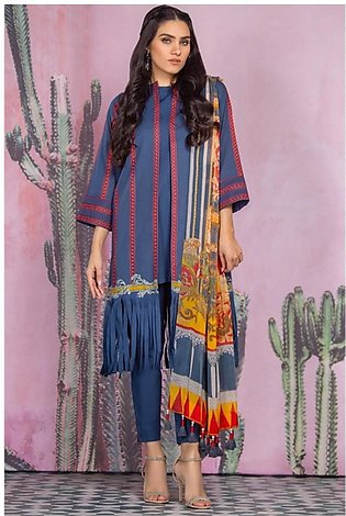 Al Karam Spring Summer Collection 2020 3 Piece (SS-07-20-Blue)