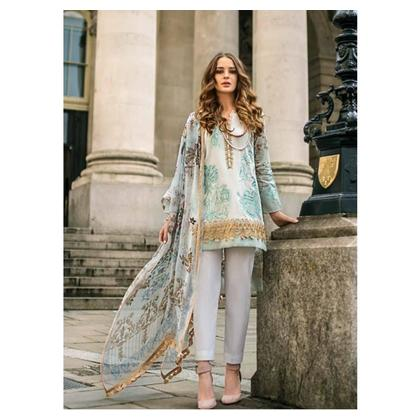 Mina Hasan Festive Luxury Lawn Collection 2019 3 Piece (05A)
