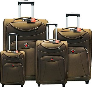 Red Dot 2W Trolley Bag 4 Pcs Set Brown