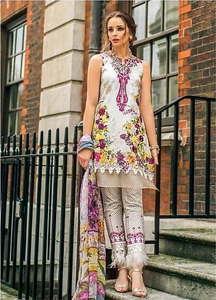 Mina Hasan Luxury Embroidered 3 Piece Lawn Festive Collection 2019 (MH-7A)