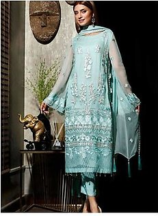 Charizma Chimmer Vol-05 Embroidered Bamber Chiffon Collection 3 Piece (CM-030)