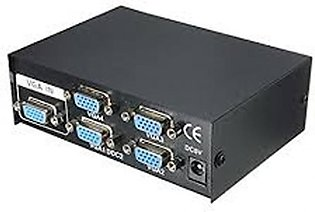 Kabir Store 200 MHz VGA Splitter 4 Port Black