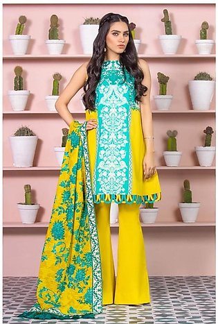 Al Karam Spring Summer Collection 2020 2 Piece (SS-14-20-Yellow)