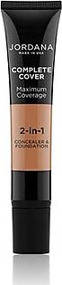 Jordana Complete Cover 2 In 1 Concealer & Foundation - Toffee (10)