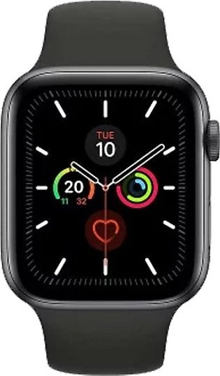 Apple Watch Series 5 44mm Space Gray Aluminum Case with Black Sport Band - GP...