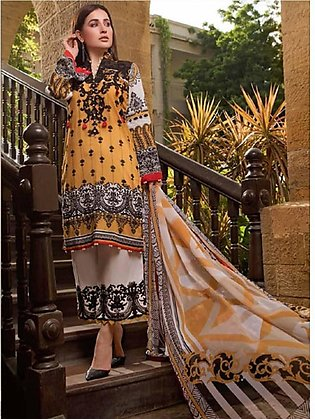 Sifona Marjaan Luxury Embroidered Lawn 2020 3 Piece (MMS-05)