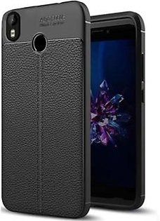 Speed Grade Leathlux Litchi Protective Cover For Infinix Hot S3 Plus - Black