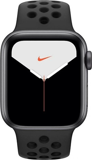 Apple Watch Series 5 40mm Space Gray Aluminum Case With Nike Black Sport Band...