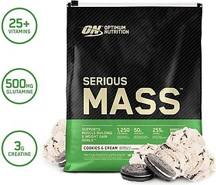 ON Optimum Nutrition Serious Mass High Protein Weight Gainer Powder Cookies &...