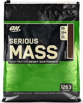 ON Optimum Nutrition Serious Mass Weight Gain Chocolate Protein Powder 5.44kg
