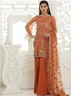 Charizma Chimmer Vol-05 Embroidered Bamber Chiffon Collection 3 Piece (CM-037)