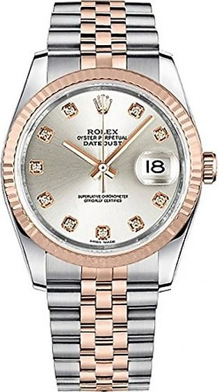 Rolex Datejust 36 Men's Watch Rose Gold (116231-SLVDJ)