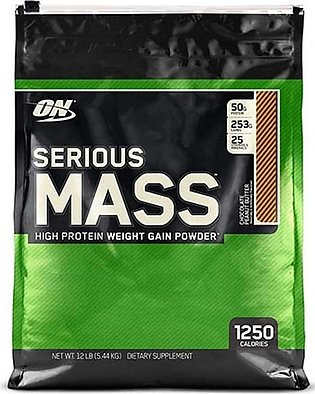 ON Pro Serious Mass High Protein Weight Gainer Powder Chocolate Peanut Butter...