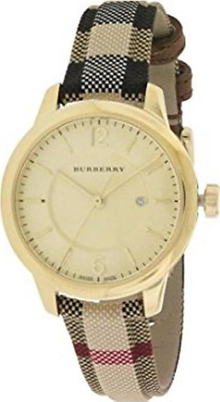 Burberry Cloth Synthetic Sapphire Women's Watch Multicolor (BU10104)