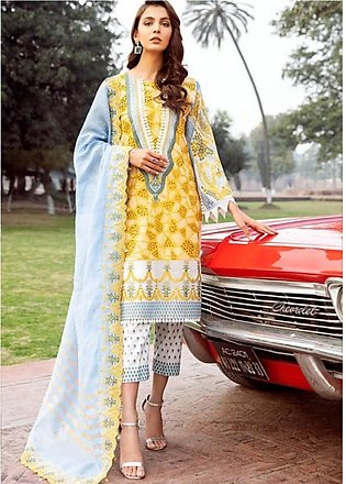 Charizma Spring/Summer Lawn Collection 2020 3 Piece (SS-03)