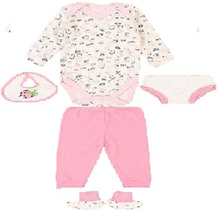 Wokstore Garments Suit For New Born Baby Pink Pack Of 6