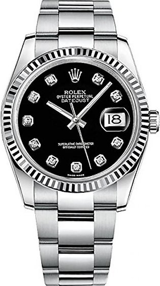 Rolex Datejust 36 Men's Watch Silver (116234-BLKDFO)