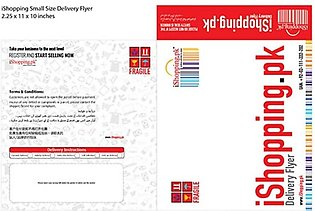 iShopping.pk Delivery Flyer Small Size 100 Pcs