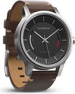 Garmin Vivomove Classic Activity Tracking Watch Stainless Steel with Leather Band